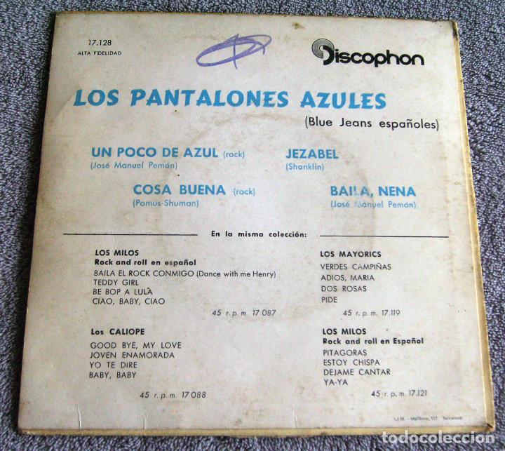 Discos de vinilo: LOS PANTALONES AZULES (BLUE JEANS ESPAÑOLES) - EP - COSA BUENA + 3 -AÑO 1960 - Foto 6 - 216927192
