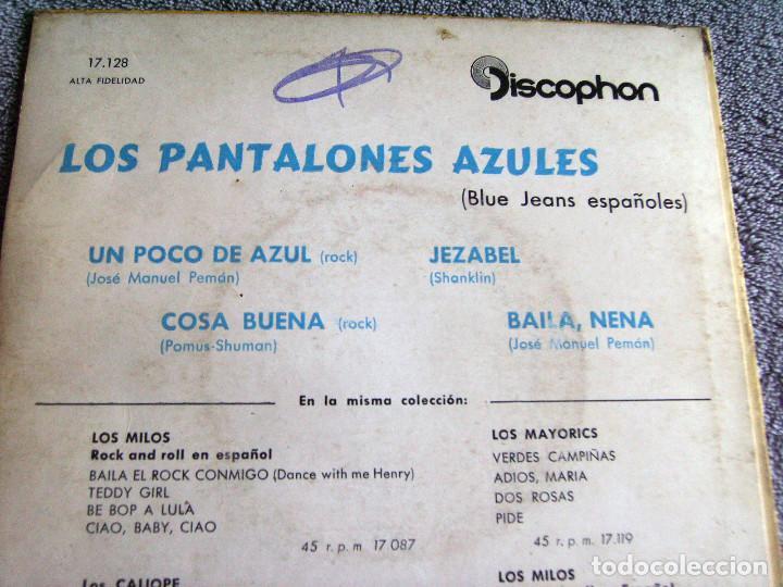 Discos de vinilo: LOS PANTALONES AZULES (BLUE JEANS ESPAÑOLES) - EP - COSA BUENA + 3 -AÑO 1960 - Foto 7 - 216927192