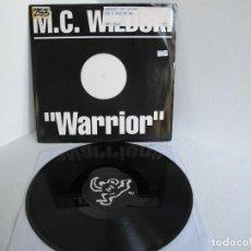 "Discos de vinil: M.C. WILDSKI / WARRIOR / HIP HOP RAP / 12"" VINILO / ALEMANIA / VG+. Lote 216954433"