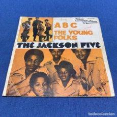 Discos de vinilo: SINGLE THE JACKSON FIVE - A B C - THE YOUNG FOLKS - ESPAÑA - AÑO 1970. Lote 216962746