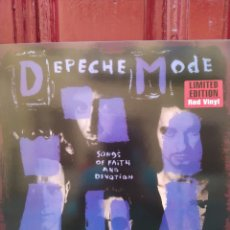 Discos de vinilo: DEPECHE MODE-SONGS OF FAITH AND DEVOTION . LP VINILO EDICIÓN LIMITADA COLOR ROJO - NUEVO. Lote 226932012