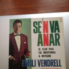 """Discos de vinilo: DISC """"SE'N VA ANAR"""" I ALTRES CANÇONS. EMILI VENDRELL. BELTER.. Lote 216969855"""