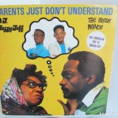 """Discos de vinil: D.J. JAZZY JEFF & THE FRESH PRINCE / PARENTS JUST DONT UNDERSTAND / 12"""" VINILO / UK / VG+. Lote 216973415"""