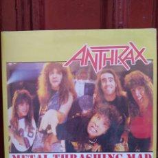 Discos de vinilo: ANTHRAX-METAL THRASHING MAD . LP VINILO PRECINTADO - HEAVY METAL -. Lote 216977960