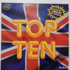 Discos de vinilo: VINILO LP. VARIOS - TOP TEN. EDICIÓN ESPAÑOLA. MAXI DE REGALO.. Lote 217019100
