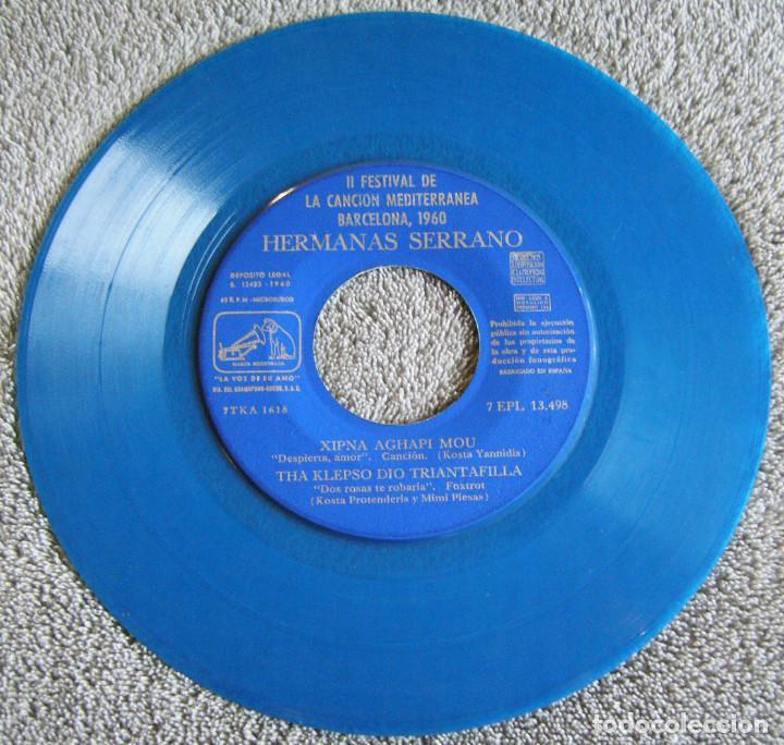 Discos de vinilo: HERMANAS SERRANO - 2º FESTIVAL DE LA CANCIÓN MEDITERRÁNEA 1960 - EP - XIPNA AGHAPI MOU + 3 - Foto 2 - 217033377