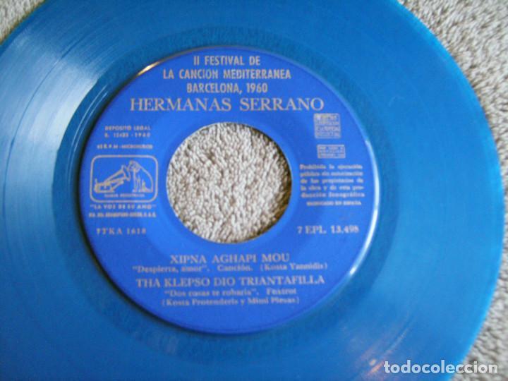 Discos de vinilo: HERMANAS SERRANO - 2º FESTIVAL DE LA CANCIÓN MEDITERRÁNEA 1960 - EP - XIPNA AGHAPI MOU + 3 - Foto 3 - 217033377