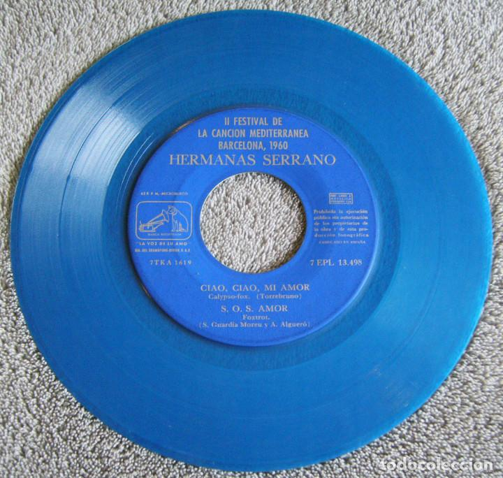 Discos de vinilo: HERMANAS SERRANO - 2º FESTIVAL DE LA CANCIÓN MEDITERRÁNEA 1960 - EP - XIPNA AGHAPI MOU + 3 - Foto 4 - 217033377