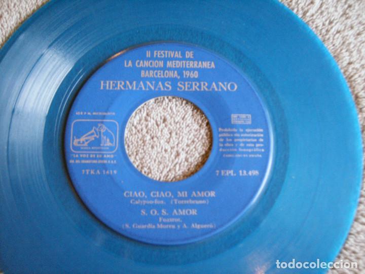 Discos de vinilo: HERMANAS SERRANO - 2º FESTIVAL DE LA CANCIÓN MEDITERRÁNEA 1960 - EP - XIPNA AGHAPI MOU + 3 - Foto 5 - 217033377
