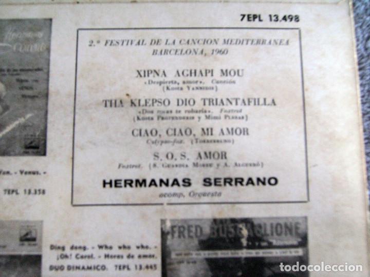 Discos de vinilo: HERMANAS SERRANO - 2º FESTIVAL DE LA CANCIÓN MEDITERRÁNEA 1960 - EP - XIPNA AGHAPI MOU + 3 - Foto 7 - 217033377
