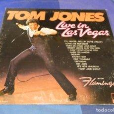 Discos de vinilo: BOXX66 LP TOM JONES LIVE IN LAS VEGAS SEÑALES LEVES DE USO USA PARROT MUY ANTIGUO ACEPTABLE. Lote 217084492