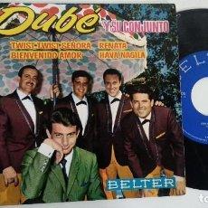 Dischi in vinile: EP-DUBE Y SU CONJUNTO-TWIST,TWIST,SEÑORA-1963-SPAIN-. Lote 217088482