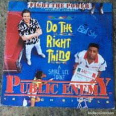 Discos de vinil: PUBLIC ENEMY - FIGHT THE POWER . MAXI SINGLE. 1989 UK. Lote 217106855