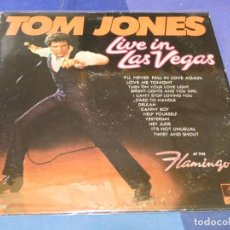 Discos de vinilo: BOXX66 LP ANTIQUISIMO TOM JONES LIVE IN LAS VEGAS, ORIGINAL PARROT BUEN ESTADO. Lote 217127907