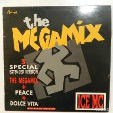 Discos de vinilo: VINILO MAXI. ICE MC - THE MEGAMIX. 45 RPM.. Lote 217137417