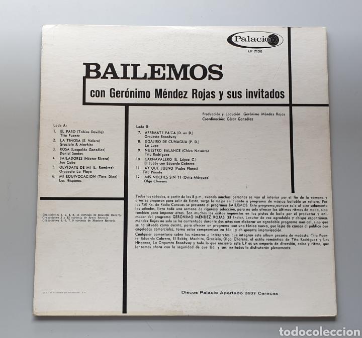 Discos de vinilo: LP BAILEMOS CON GERONIMO MENDEZ ROJAS Y SUS INVITADOS (Venezuela - Palacio - 1966) TOP COPY NEAR MIN - Foto 2 - 217141472