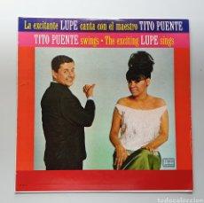 Discos de vinilo: LP LA LUPE & TITO PUENTE - LA LUPE TITO PUENTE SINGS (VENEZUELA - PALACIO - 1965) TOP COPY NEAR MINT. Lote 217142262