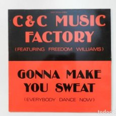 Dischi in vinile: VINILO MAXI. C&C MUSIC FACTORY (FEATURING FREEDOM WILLIAS) - GONNA MAKE YOU SWEAT. 45 RPM.. Lote 217142986