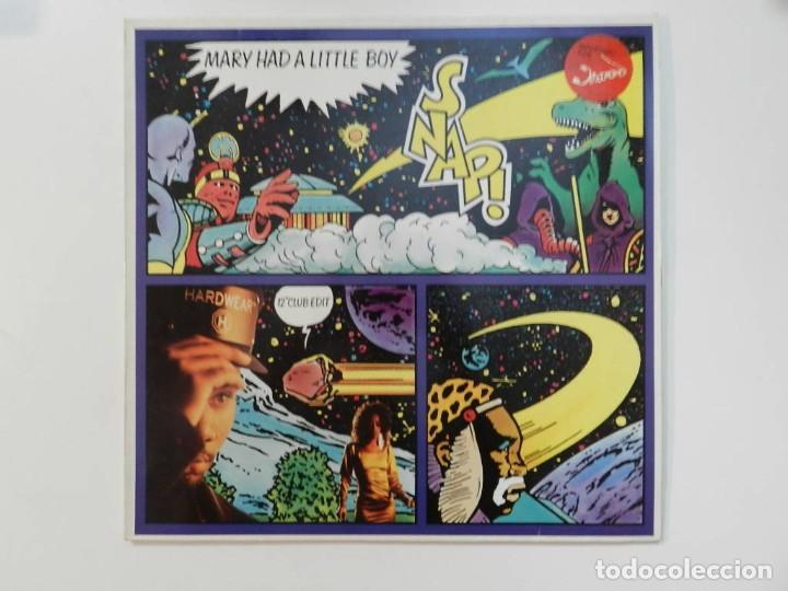VINILO MAXI. SNAP! - MARY HAD A LITTLE BOY. 45 RPM. EDICIÓN ALEMANA. (Música - Discos de Vinilo - Maxi Singles - Rap / Hip Hop)
