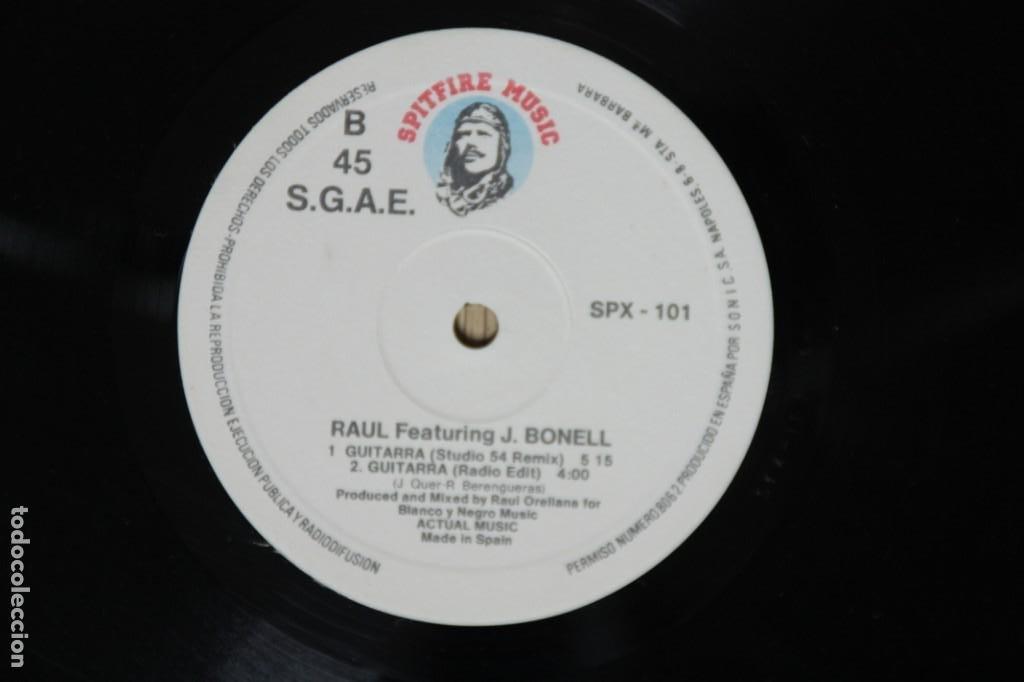 Discos de vinilo: Raul Featuring J.Bonell - Guitarra (Maxi Single Vinilo. Original 1988) - Foto 3 - 217144071