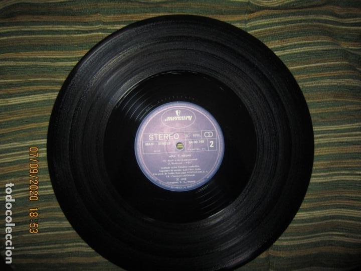 Discos de vinilo: AZUL Y NEGRO - LA NOCHE - MAXI 45 R.P.M. ORIGINAL ESPAÑOL - MERCURY RECORDS 1982 - MUY NUEVO (5). - Foto 4 - 217147487