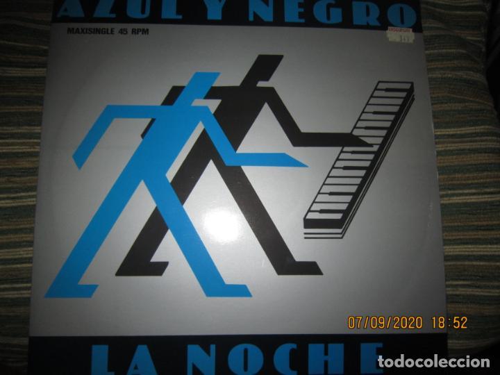 AZUL Y NEGRO - LA NOCHE - MAXI 45 R.P.M. ORIGINAL ESPAÑOL - MERCURY RECORDS 1982 - MUY NUEVO (5). (Música - Discos de Vinilo - Maxi Singles - Grupos Españoles de los 70 y 80)