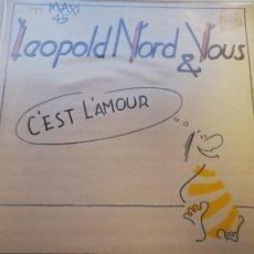 Disques de vinyle: A1-LEOPOLD NORD & VOUS - C'EST L'AMOUR - VINILO 12- PORTADA G / DISCO G. Lote 217148090