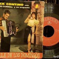 Discos de vinilo: DICK CONTINO - CON DAVID CARROLL Y ORQUESTAS - EL BAILE DE LOS DOMINGOS. Lote 217148535
