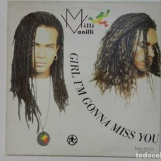Discos de vinilo: VINILO MAXI. MILLI VANILLI - GIRL I'M GONNA MISS YOU. 45 RPM.. Lote 217151452