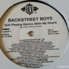 Disques de vinyle: BACKSTREET BOYS - QUIT PLAYING GAMES (WITH MY HEART) - 1997 - 2 VINYLS. Lote 217175662