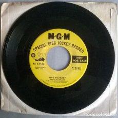Discos de vinilo: MARVIN RAINWATER. I DIG YOU BABY/ MOANIN' THE BLUES. MGM. USA 1958 SINGLE PROMOCIONAL. Lote 217177800