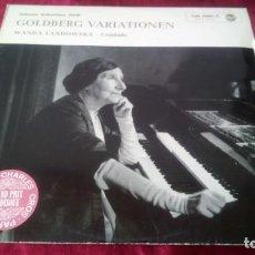 Discos de vinilo: J. S. BACH. GOLDBERG VARIATIONEN. RCA. Lote 217197913