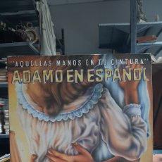 Discos de vinilo: ADAMO. AQUELLAS MANOS EN TU CINTURA. CANTA EN ESPAÑOL. DOBLE LP. Lote 217204641