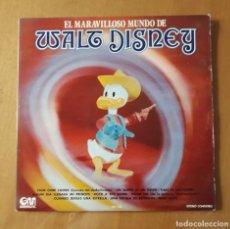 Discos de vinilo: LP EL MARAVILLOSO MUNDO DE WALT DISNEY. GM 1973. Lote 217209330