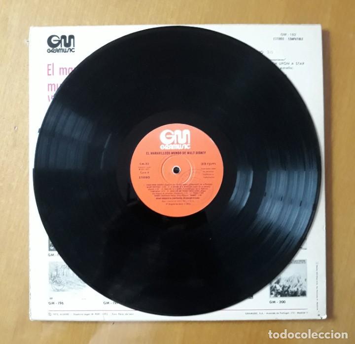 Discos de vinilo: LP EL MARAVILLOSO MUNDO DE WALT DISNEY. GM 1973 - Foto 2 - 217209330