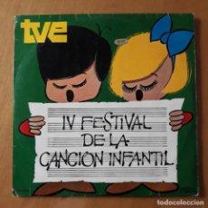 Discos de vinilo: LP TVE IV FESTIVAL DE LA CANCIÓN INFANTIL. 1970. Lote 217212946