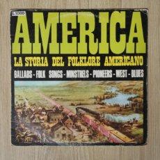 Discos de vinilo: LP AMERICA LA STORIA DEL FOLKLORE (1969). Lote 217226272