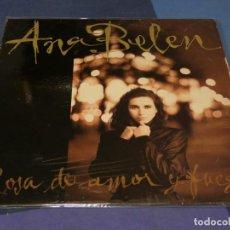 Discos de vinilo: EXPRO LP ANA BELEN ROSA DE AMOR Y FUEGO PORTADA BIEN VINILO EN MUY BUEN ESTADO. Lote 217229555
