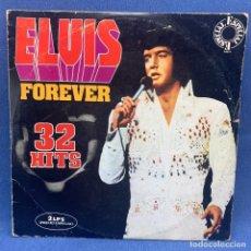 Discos de vinil: LP - ELVIS PRESLEY - ELVIS FOREVER - 32 HITS - DOBLE LP - ESPAÑA - 1975. Lote 217240297