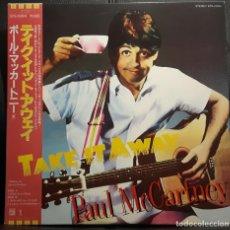 Discos de vinilo: PAUL MCCARTNEY - BEATLES - TAKE IT AWAY - MAXISINGLE - JAPON - 1982 - EXCELENTE - NO USO CORREOS. Lote 217247920