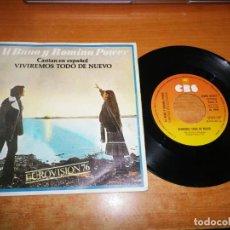 Discos de vinilo: ALBANO Y ROMINA POWER VIVIREMOS TODO DE NUEVO EN ESPAÑOL SINGLE VINILO ESPAÑA EUROVISION ITALIA 1976. Lote 217251420
