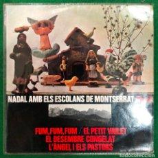Discos de vinilo: NADAL AMB ELS ESCOLANS DE MONTSERRAT - EP EDIGSA DE 1966 , PERFECTO ESTADO. Lote 217270470
