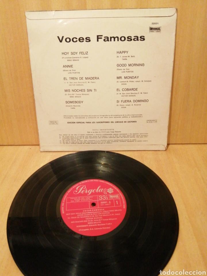 Discos de vinilo: Voces Famosas. Nino Bravo. Los Puntos. Víctor Manuel. Tara. Dova. 10 Pulgadas. Portadas Ye Ye. - Foto 2 - 217276147