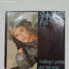 Disques de vinyle: SAMANTHA FOX. NOTHING'S GONNA STOP ME NOW. TDKDS16. Lote 217304902