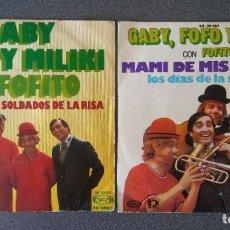 Discos de vinilo: LOTE VINILOS EP S GABY FOFO Y MILIKI CON FOFITO. Lote 217310980