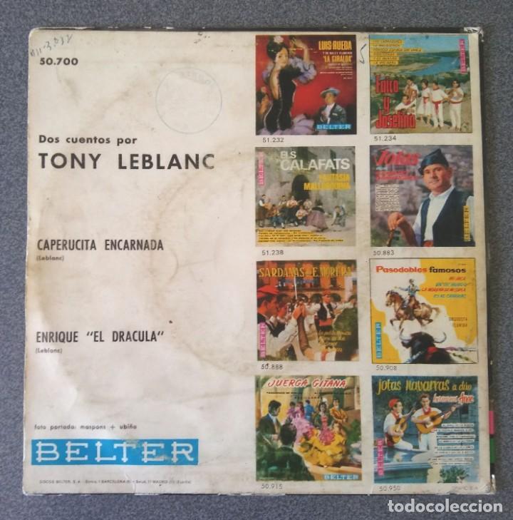 Discos de vinilo: Vinilo Dos Cuentos por Tony Leblanc - Foto 3 - 217311232