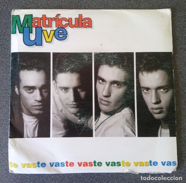 VINILO EP MATRICULA UVE (Música - Discos de Vinilo - EPs - Grupos Españoles de los 90 a la actualidad)