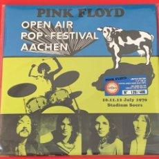 Discos de vinilo: PINK FLOYD - OPEN AIR POP FESTIVAL, AACHEN - 2LP, ED. LTDA., CRYSTAL MIXED MODE BLUE VINYL. Lote 217318838