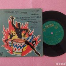 "Discos de vinilo: 7"" EDMUNDO ROS / THE JOHNSTON BROTHERS - HEART +3 - DECCA - SPAIN PRESS - EP 50'S (VG+/VG+). Lote 217327592"