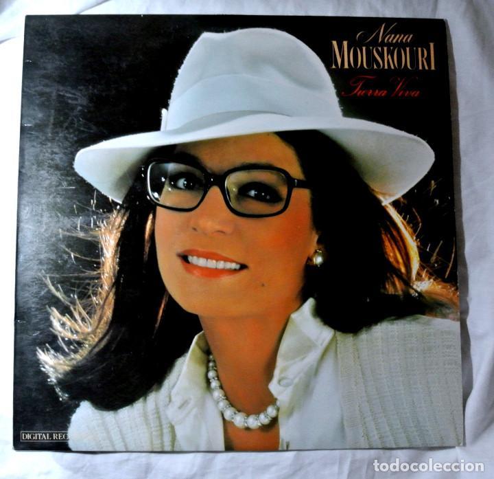 NANA MOUSKORI TIERRA VIVA, DISCO VINILO LP, POLYGRAM, 1987 (Música - Discos - LP Vinilo - Cantautores Extranjeros)